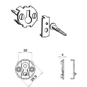 UWG-Verbinder, ø 30 mm, Einlasstiefe 4, 5 mm, Stahl verzinkt