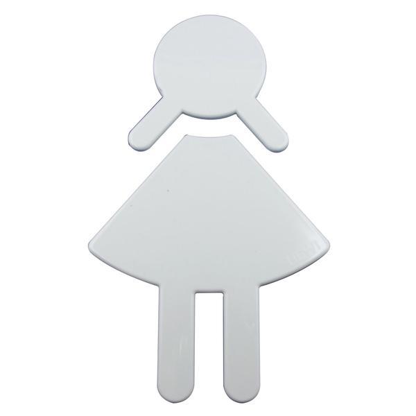 Symbol Frau selbstklebend, 87 x 150 mm, Nylon reinweiß