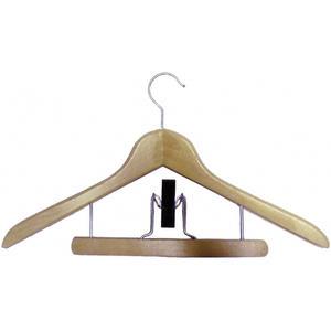 Kleiderbügel Weneg drehbar, mit Hosenspanner, Buche lackiert