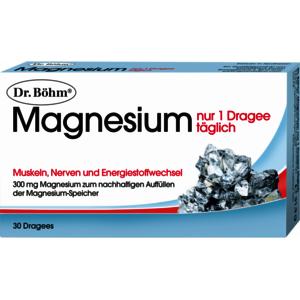 Magnesium nur 1 Dragee täglich - 30 Stück