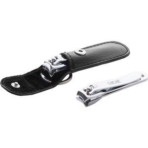 Nagelknipser mit Auffangschale und Etui, 65 mm - Schwarz