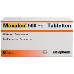 Mexalen 500 mg Tabletten - 60 Stück