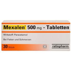 Mexalen 500 mg Tabletten - 30 Stück