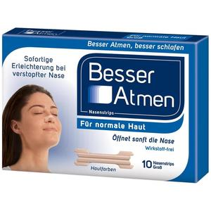 Besser Atmen Nasenstrips Beige Groß - 30 Stück