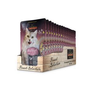 Katzen-Nassfutter - 16er PACK LEONARDO® Finest Selection Geflügel & Ei 85g