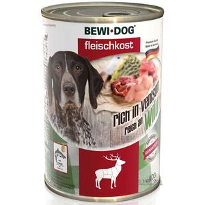 Hunde-Nassfutter - 6er PACK BEWI DOG® Fleischkost Reich an Wild 400g