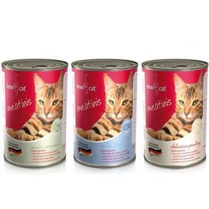Katzen-Nassfutter - BEWI CAT® Meatinis Dosenmix 6 x 400g - Pack