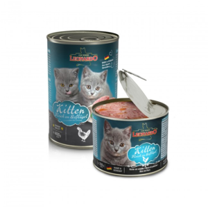 Katzen-Nassfutter - 6er PACK LEONARDO® Quality Selection Kitten 400g