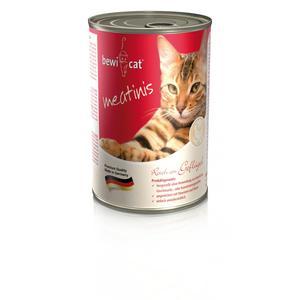 Katzen-Nassfutter - BEWI CAT® Meatinis Geflügel 6 x 400g - Pack