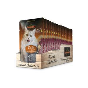 Katzen-Nassfutter - LEONARDO® Finest Selection Ente & Käse 16 x 85g - Pack