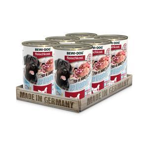 Hunde-Nassfutter - 6er PACK BEWI DOG® Fleischkost Reich an Geflügelherzen 400g