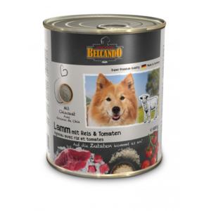Hunde-Nassfutter - 6er PACK BELCANDO® Premium Dosen Lamm mit Reis & Tomaten 400g