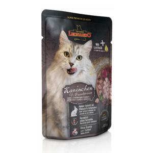 Katzen-Nassfutter - 16er PACK LEONARDO® Finest Selection Kaninchen & Cranberries 85g