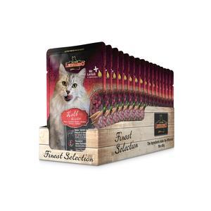 Katzen-Nassfutter - LEONARDO® Finest Selection Kalb & Gemüse 16 x 85g - Pack