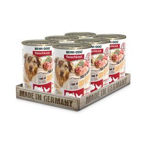 Hunde-Nassfutter - 6er PACK BEWI DOG® Fleischkost Reich an Geflügel 400g