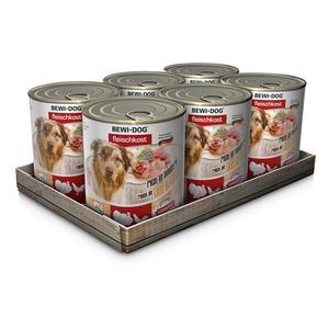 Hunde-Nassfutter - 6er PACK BEWI DOG® Fleischkost Dosen Mix 400g