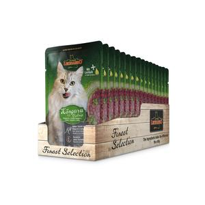 Katzen-Nassfutter - 16er. PACK LEONARDO® Finest Selection Känguru & Minze 85g