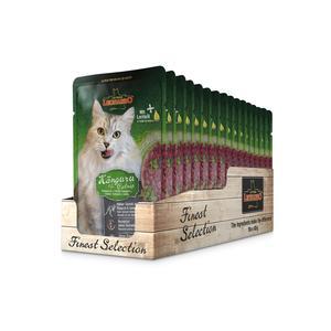 Katzen-Nassfutter - LEONARDO® Finest Selection Känguru & Minze 16 x 85g - Pack