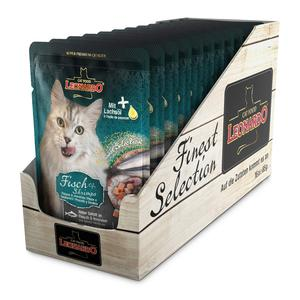 Katzen-Nassfutter - 16er PACK LEONARDO® Finest Selection Frischebeutel Mix 85g