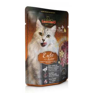 Katzen-Nassfutter - 16er PACK LEONARDO® Finest Selection Ente & Käse 85g