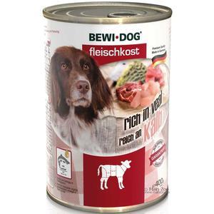 Hunde-Nassfutter - 6er PACK BEWI DOG® Fleischkost Reich an Kalb 400g
