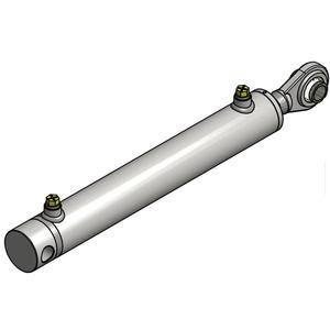 Hydraulikzylinder doppelwirkend 60/30/350mm mit Anschweißkugelauge Ø 25,4mm u...