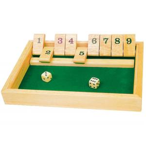 "Würfelspiel ""Shut the Box"""