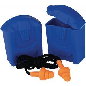 Gehörschutzstöpsel SAFELINE paarweise in Kunststoffdose mit Band 10 Stück