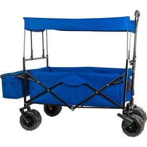 Bollerwagen faltbar blau inkl. Sonnendach