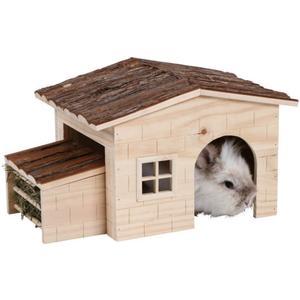 Nagerhaus mit integrierter Heuraufe