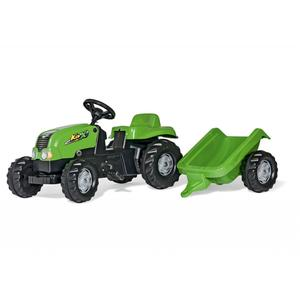 Kid-X Trettraktor mit Anhänger grün