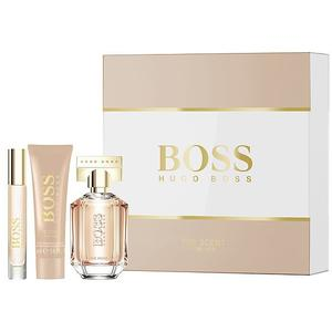 BOSS Geschenkset - The Scent for Her Eau de Parfum Natural Spray 50ml/Bödy Lotion 50ml/Portable Spray 7,4ml