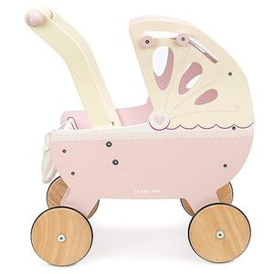 LE TOY VAN Holz-Puppenwagen (rosa)