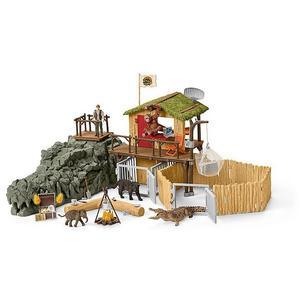 SCHLEICH Dschungel Forschungsstation Croco Wild Life 42350