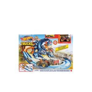 HOT WHEELS Monster Trucks Skorpion Beschleuniger Rennbahn Set
