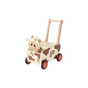 Schiebewagen aus Holz Kuh