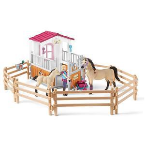 SCHLEICH Pferdebox mit Arabern und Pferdepfllegerin Horse Club 42369