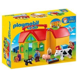 PLAYMOBIL 1,2,3 Mein Mitnehm Bauernhof 6962
