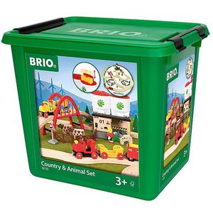 BRIO Großes Countryside Set mit Silo 60-tlg.