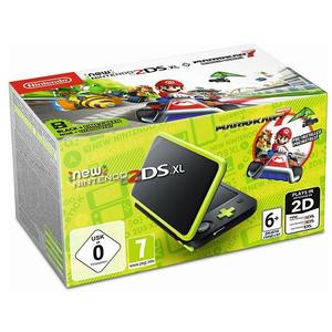 NINTENDO 3DS New Nintendo 2DS XL Konsole (Schwarz/Apfelgrün) inklusive Mario Kart 7