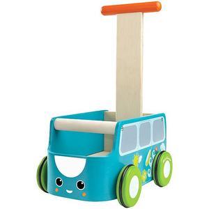 PLANTOYS Lauflernwagen aus Holz - Van Walker (Blau)
