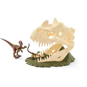 SCHLEICH Grosse Schädelfalle mit Velociraptor Dinosaurs 42348