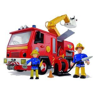 FEUERWEHRMANN SAM Jupiter Feuerwehrauto mit 2 Figuren 28cm