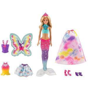 MATTEL Barbie - Dreamtopia Regenbogen-Königreich 3-in-1 Fantasie Puppe Geschenkset