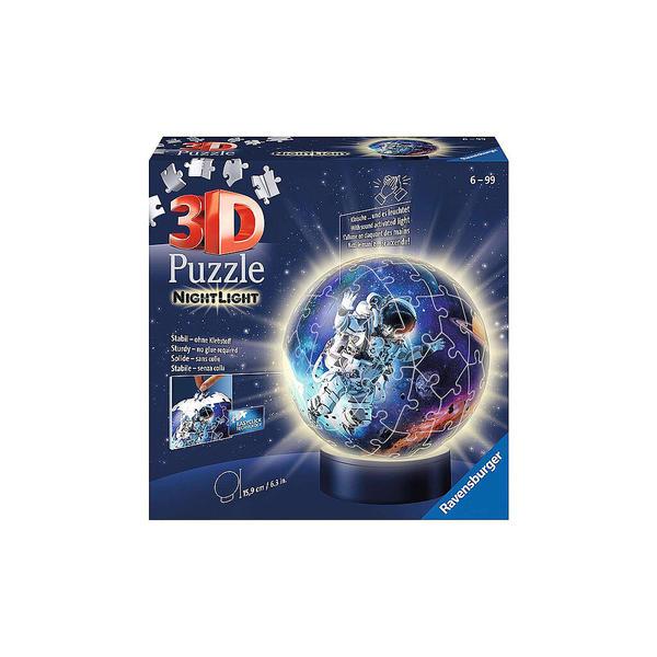 RAVENSBURGER 3D Puzzle - Nachtlicht - Astronauten im Weltall - 72 Teile