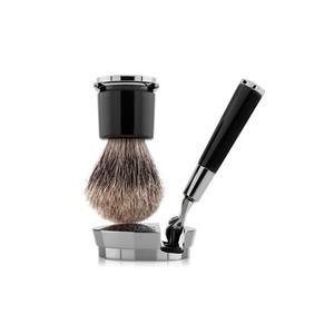 ACQUA DI PARMA Collezione Barbiere - Geschenkset - Rasierpinsel Dachshaar und Rasierer (Schwarz)