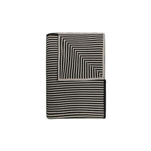 Baumwolldecke Arvid 130x170cm (Black/Chalk)