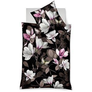 FLEURESSE Satin-Bettwäsche Flower Art 70x90cm/140x200cm (bunt/magnolie)
