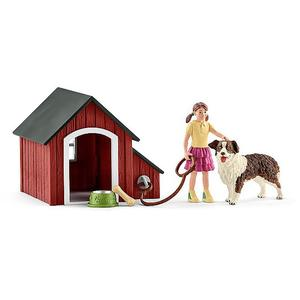 SCHLEICH Hundehütte Farm World 42376