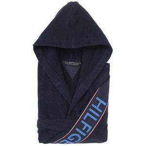 TOMMY HILFIGER Hilfiger Iconic Bademantel (Navy)